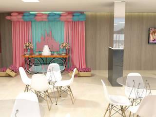 Salão de Festas RC - Águas Claras/ DF Salas de estar modernas por 4 Arquitetas Moderno