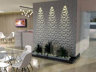 Salão de Festas RC - Águas Claras/ DF Corredores, halls e escadas modernos por 4 Arquitetas Moderno