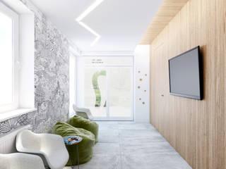 Poczekalnia - wersja 1: styl , w kategorii Kliniki zaprojektowany przez 365 Stopni