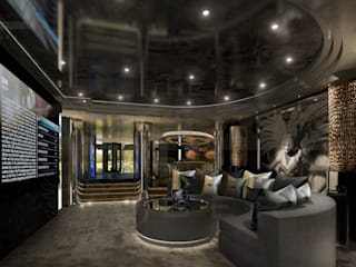 Underground media area: modern Media room by Design by UBER