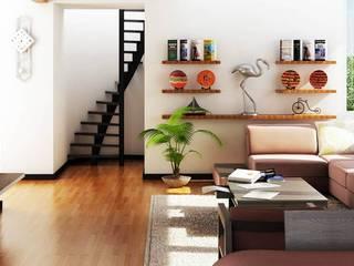Progetto soggiorno angolo cottura: Soggiorno in stile  di Archihouse