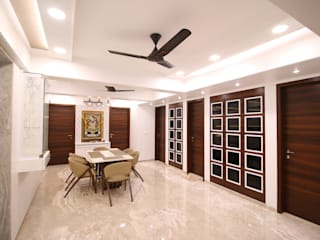 Mr Barwalia Modern dining room by Three Interiors Modern