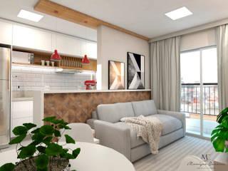 Sala: Salas de estar  por Monique Cáceres Arquitetura