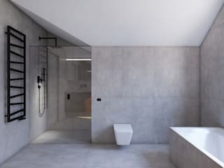 Łazienka na poddaszu: styl , w kategorii Łazienka zaprojektowany przez DCODE Emilia Krysińska,