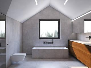 DCODE Emilia Krysińska Projektowanie Wnętrz i Architektura Minimalist bathroom Concrete