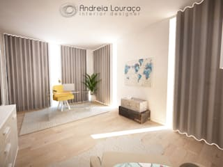 Modern Study Room and Home Office by Andreia Louraço - Designer de Interiores (Contacto: atelier.andreialouraco@gmail.com) Modern