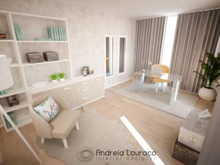 Andreia Louraço - Designer de Interiores (Email: andreialouraco@gmail.com) Estudios y despachos de estilo moderno