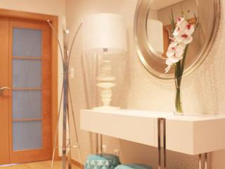 Hall de Entrada e Corredor:   por Andreia Louraço - Designer de Interiores (Contacto: atelier.andreialouraco@gmail.com)