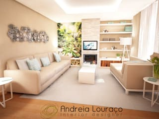 """Projecto Sala - """"Greenery and Wood"""":   por Andreia Louraço - Designer de Interiores (Contacto: atelier.andreialouraco@gmail.com)"""