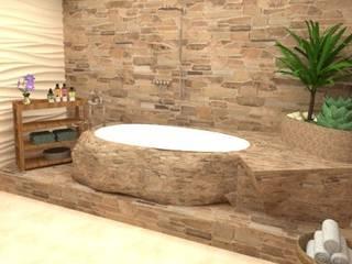 Baño Baños rústicos de Estudio Carmesí. Diseño y Decoración Rústico