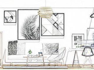 Living:  de estilo  por Estudio Carmesí. Diseño y Decoración
