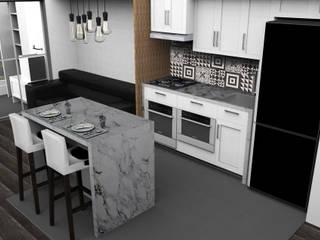 DIAS 323 Cozinhas modernas por BSK Studio Moderno
