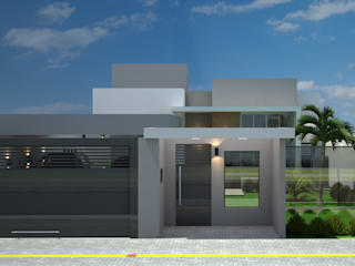Casa moderna e compacta Casas modernas por Arquiteta Bianca Monteiro Moderno