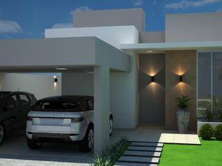 Casa moderna e compacta por Arquiteta Bianca Monteiro Moderno