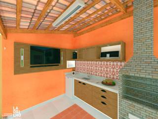 Deck R+M por Ladrilho Urbanismo e Arquitetura Rústico