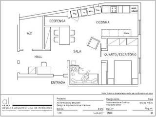 PROJECTO DE REMODELAÇÃO DE INTERIORES l APARTAMENTO T2 ERICEIRA l 2018 por all Design [Arquitectura e Design de Interiores] Mediterrânico