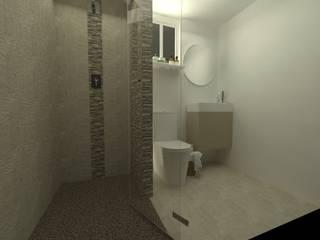 Baño tabacalera: Baños de estilo  por Arq. Vianey Pineda
