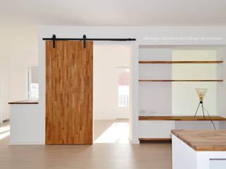 APARTAMENTO T2 ERICEIRA Salas de estar mediterrânicas por all Design [Arquitectura e Design de Interiores] Mediterrânico