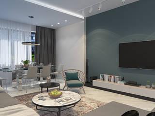 Квартира в современном стиле в Москве Гостиная в стиле модерн от design4y Модерн