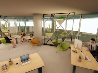 Ofis Ic Mekan Peyzaj Projesi Pil Tasarım Mimarlik + Peyzaj Mimarligi + Ic Mimarlik Tropikal Çalışma Odası