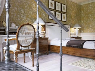 Двухуровневая Квартира Спальня в классическом стиле от V.O.concept studio Классический