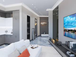 Дизайн-проект квартиры в стиле неоклассика Гостиная в классическом стиле от design4y Классический