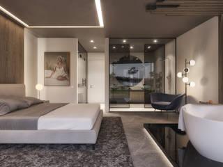 Uma Suite com Vista Golf: Quartos  por Tendenza -  Interiors & Architecture Studio