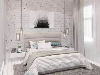 Уютная трехкомнатная квартира в духе французского кантри Спальня в стиле кантри от design4y Кантри