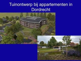 tuinontwerp bij appartementen in Dordrecht Landelijke tuinen van Antony Marcelis Landschapsarchitectuur Landelijk