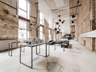 A space - temporärer Showroom in Berlin Industriale Geschäftsräume & Stores von plajer & franz studio Industrial