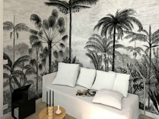 Tropical style bedroom by MJ Intérieurs Tropical