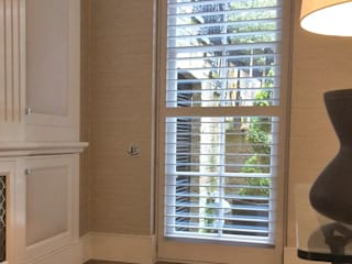 Shutters For A Stunning Conservatory And Just In Time For The Spring Sunshine Too Plantation Shutters Ltd Ruang Keluarga Modern Kayu Grey