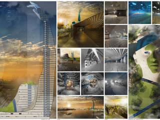 Touch the sky with a finger Hotel in stile minimalista di interiorstudio Minimalista