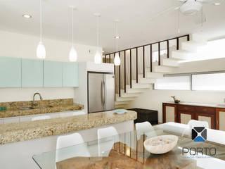 مطبخ تنفيذ PORTO Arquitectura + Diseño de Interiores