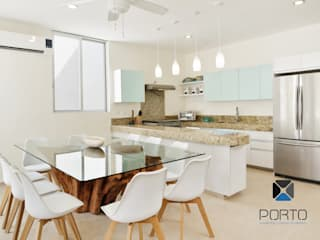 PORTO Arquitectura + Diseño de Interiores Mediterranean style dining room