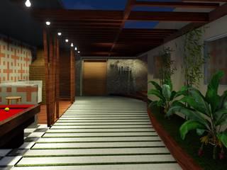 Detalhe Arquitetura e Engenharia Tropischer Balkon, Veranda & Terrasse Holz