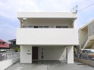 正面外観: 株式会社青空設計が手掛けた一戸建て住宅です。