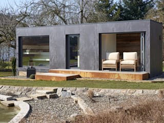 Jardines de estilo moderno de corso sauna manufaktur gmbh Moderno
