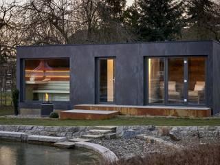 Saunahaus SpaCube: moderner Garten von corso sauna manufaktur gmbh
