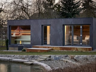 corso sauna manufaktur gmbh 모던스타일 정원
