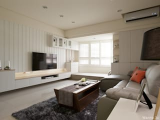 Country style living room by 北歐制作室內設計 Country