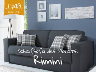 Schlafsofa Rimini (dunkelblau):   von Sofawerk.de