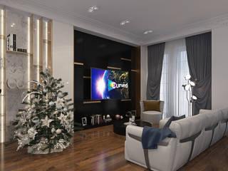Дизайн-проект роскошной квартиры с элементами неоклассики: Гостиная в . Автор – design4y