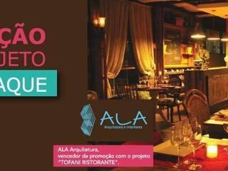 Restaurantes de estilo  por ALA Arquitetura e Interiores, Rústico