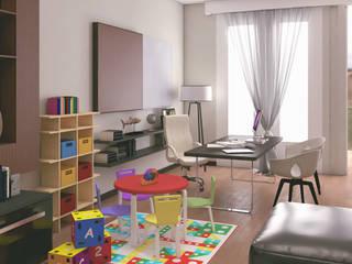 Living - Estudio departamento ED: Estudios y oficinas de estilo ecléctico por A. C. Arquitectura y diseño