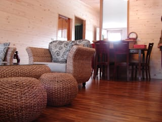 Rustic style living room by 安居屋有限公司 Rustic