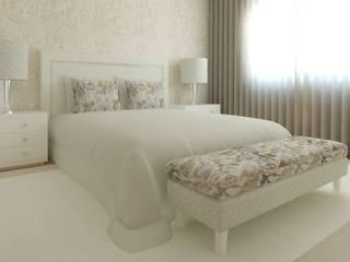 Projeto 3D Suite com Closet: Quartos modernos por Ana Andrade - Design de Interiores