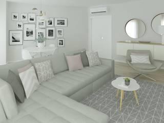 Scandinavian style living room by Ana Andrade - Design de Interiores Scandinavian