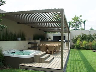 Pergola Bioclimática Rio Bajo:  de estilo  por D+I Diseño mas interiorismo
