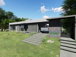 casa zenobi: Casas unifamiliares de estilo  por mgt_Estudio de  Arquitectura + Diseño